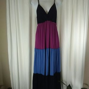 Fashion Bug Color Block Maxi Dress